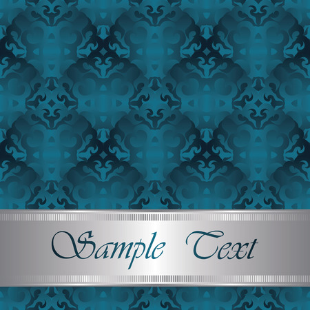 royal blue background: Vintage seamless background with place for text. Luxury design