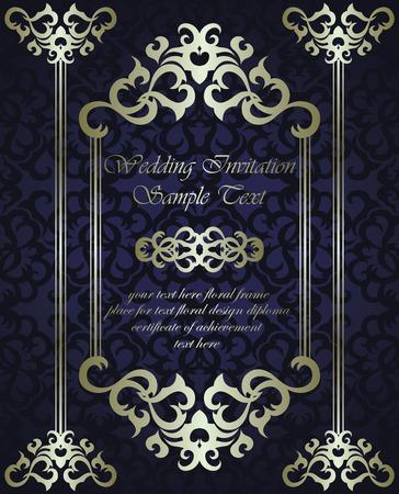 bodas de plata: Invitación de la boda con el marco en el fondo sin fisuras