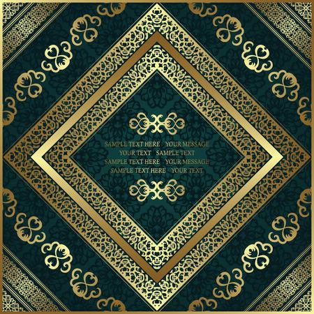 certificate frame: Vintage frame on seamless background. Luxury design Illustration