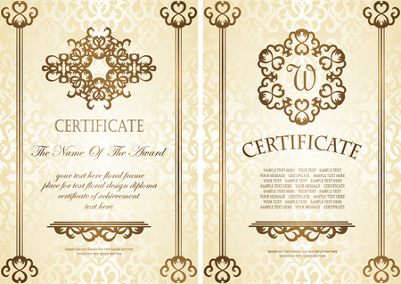 Certificate Template Collection Royalty Free Cliparts Vectors And