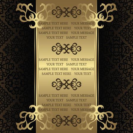 Tarjeta de la vendimia en el fondo sin fisuras. Puede ser utilizado como certificado o diploma