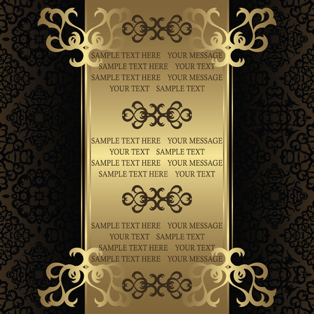 Vintage card on seamless background. Can be used as certificate or diploma Stock Illustratie
