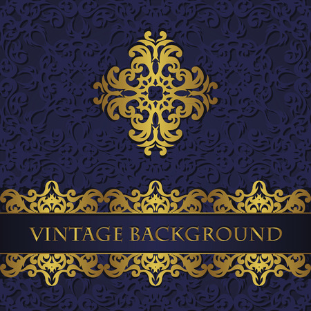 original: Modern invitation with vintage decoration. Original style