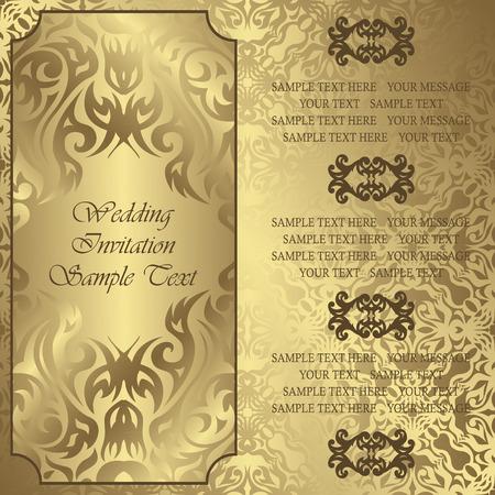 Einladung zur Hochzeit mit Blumenfeld Standard-Bild - 35840678