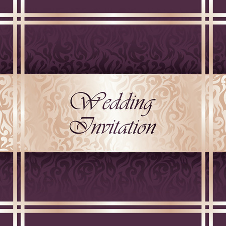 Wedding invitation with floral pattern. Floral background Vector