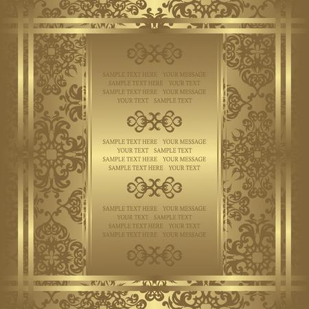 Vintage invito su sfondo di lusso. Può essere usato come invito a nozze Vettoriali