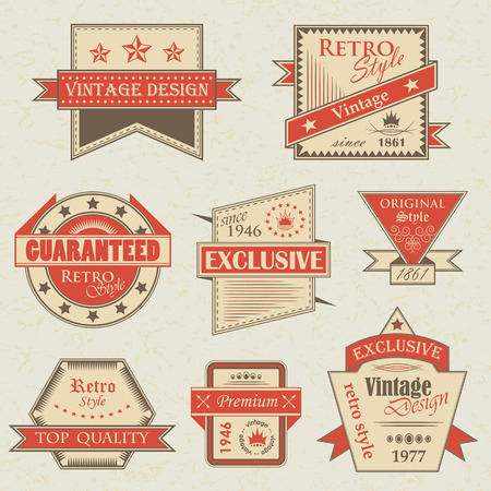 retro and vintage: Vector set of vintage labels. Retro labels. Vintage labels collection. Vintage styled signs