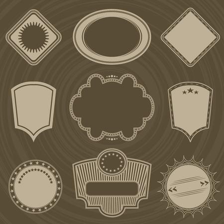 original circular abstract: labels Vintage style. Grunge design.