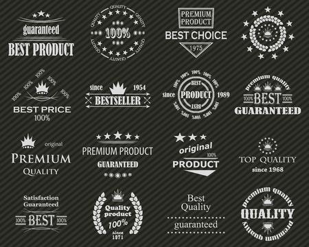 original circular abstract: Premium quality labels set. Illustration