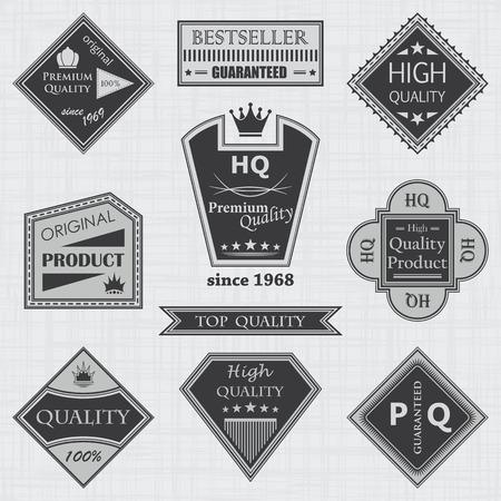 original circular abstract: Premium quality labels set. Retro Vintage Design Illustration