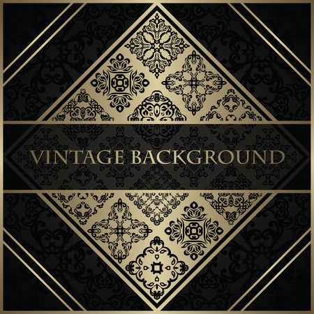 decorative elements: Original invitation. Vintage background. Decorative elements