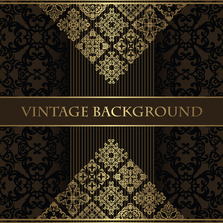 original design: Vintage background. Original design. Beauty card, design elements Illustration