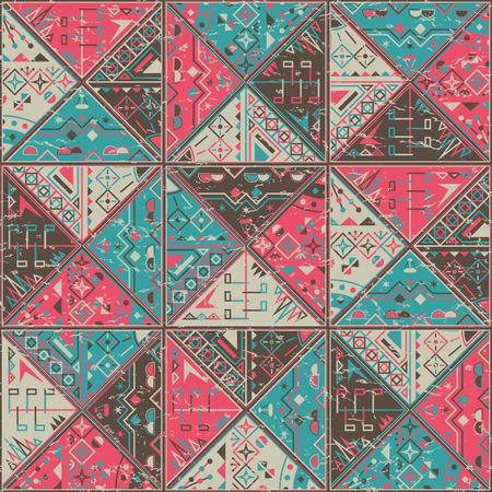 figuras abstractas: Efecto abstracto colorido triángulo patrón de fondo. Figuras geometricas. Efecto de Grunge Vectores
