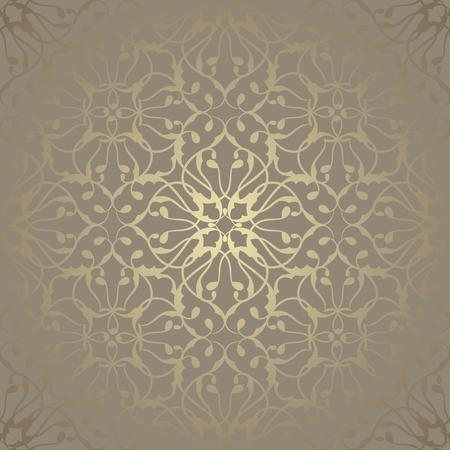 vektor: Nahtlose Tapete mit Vintage-Schmuck. Luxus-Hintergrund