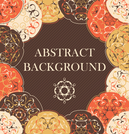 decoupage: Abstract background with round patterns. Floral design, invitation card. Can be used for decoupage