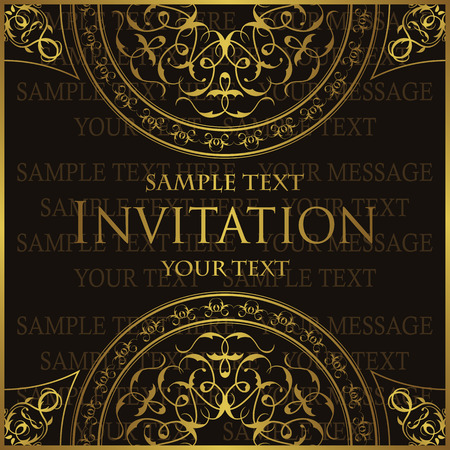book covers: Retro paper with round lace ornament and place for text. Vintage invitation card Illustration
