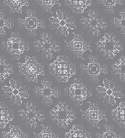 seamless floral: Seamless luxury template in a silver . Can be used for decoupage, background for cards and invitations