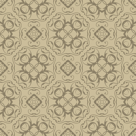 seamless floral pattern: Vintage Seamless Floral Pattern. Retro Ornament in pastel colors Illustration