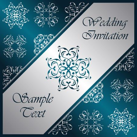 ornate background: Elegant background with lace decorative elements. Ornate background