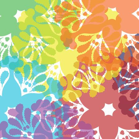 blots: Bright wallpaper with floral blots Illustration