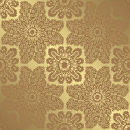 textile texture: Seamless floral wallpaper. Vector background in pastel colors Illustration