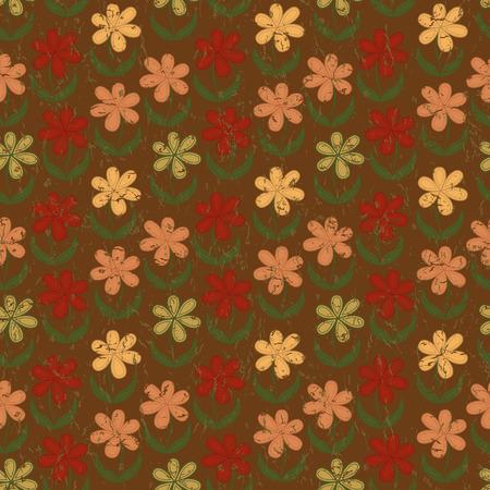 grunge wallpaper: Floral seamless wallpaper in grunge design