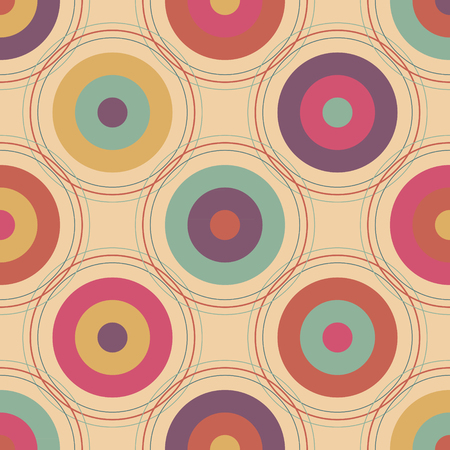 Bright abstract pattern with circles Vector Illustration