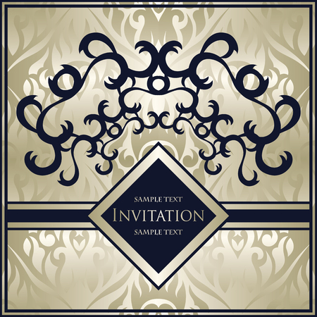 classic classical: Vintage design for different invitations. Retro luxury background