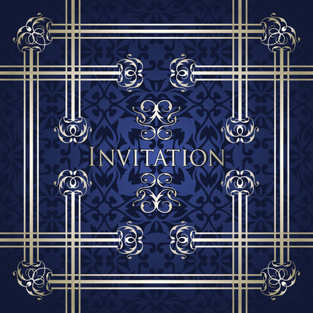 classic classical: Vintage design for your invitation. Retro background with vintage borders. Template for decoration Illustration