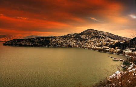 view of kastoria greece photo