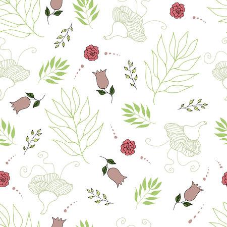floral seamless pattern vector illustration