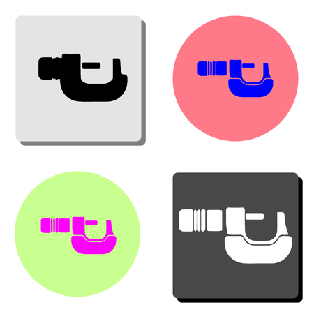 Clamp. simple flat vector icon illustration on four different color backgrounds