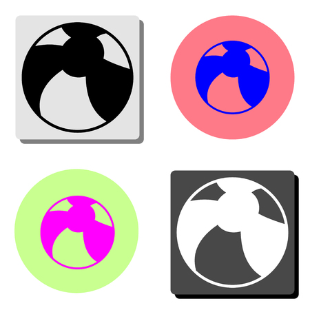 Children Ball. simple flat vector icon illustration on four different color backgrounds