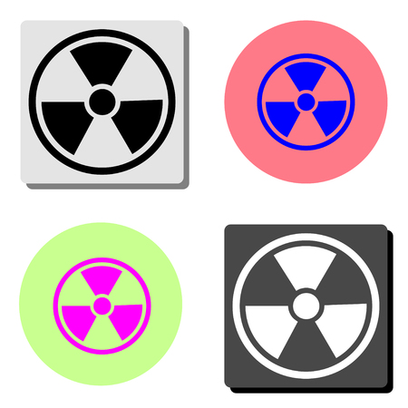 radiation. simple flat vector icon illustration on four different color backgrounds Imagens - 116159841