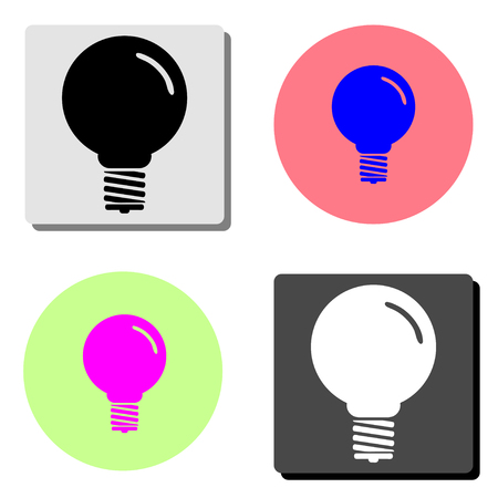 lamp. simple flat vector icon illustration on four different color backgrounds