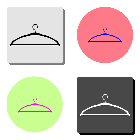 Hanger. simple flat vector icon illustration on four different color backgrounds