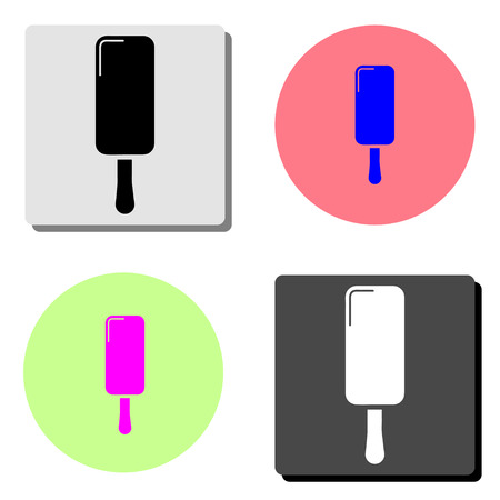 Icecream dessert. simple flat vector icon illustration on four different color backgrounds