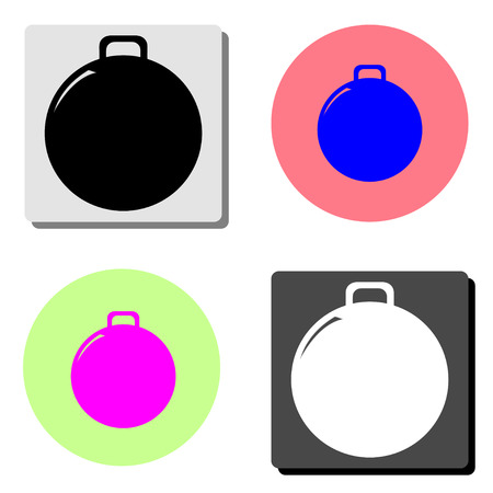Weight. simple flat vector icon illustration on four different color backgrounds
