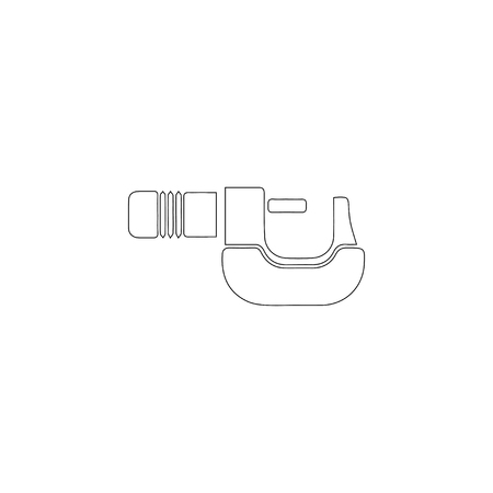 Clamp. simple flat vector icon illustration. outline line symbol - editable stroke