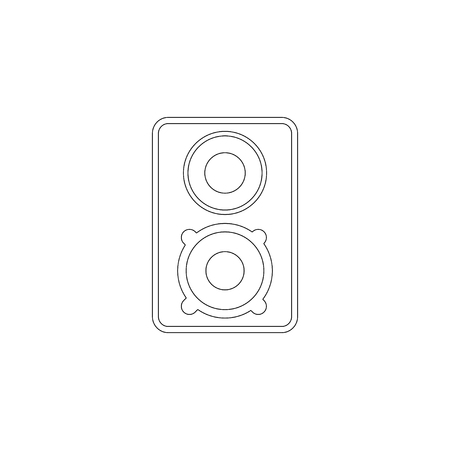 Music column audio speakers. simple flat vector icon illustration. outline line symbol - editable stroke