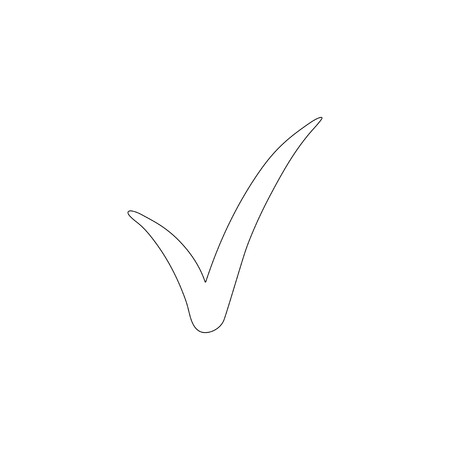 check. simple flat vector icon illustration. outline line symbol - editable stroke