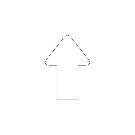Arrow Up. simple flat vector icon illustration. outline line symbol - editable stroke Illustration