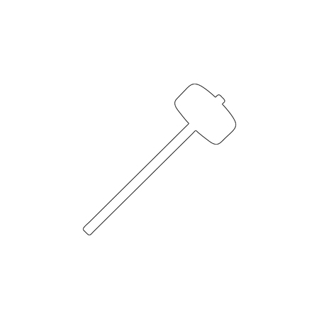 Sledge hammer. simple flat vector icon illustration. outline line symbol - editable stroke 矢量图像