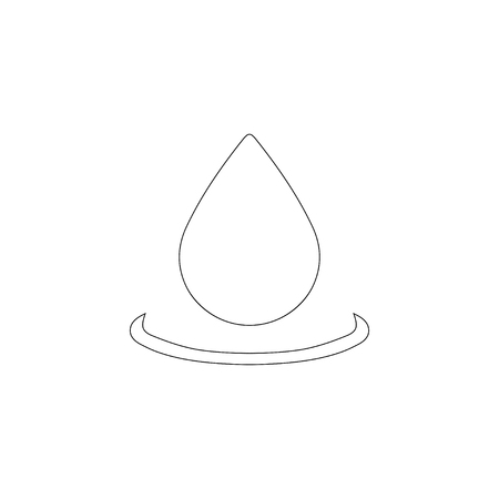 drop. simple flat vector icon illustration. outline line symbol - editable stroke 矢量图像
