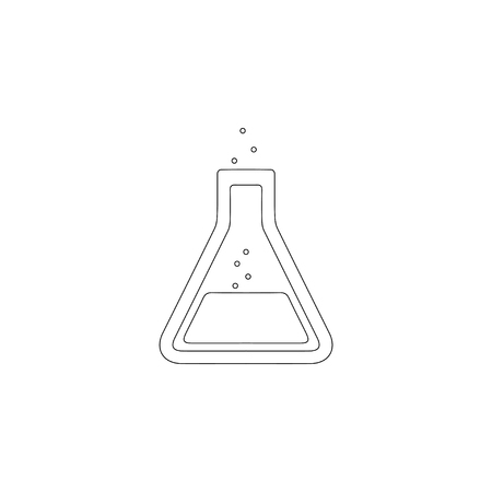 test tube. simple flat vector icon illustration. outline line symbol - editable stroke