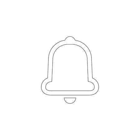 Bell. simple flat vector icon illustration. outline line symbol - editable stroke Stock Illustratie