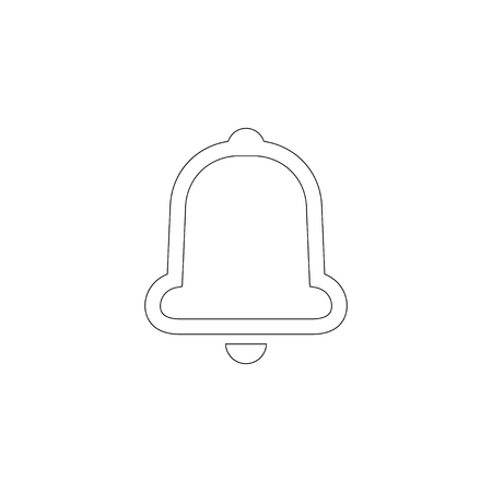 Bell. simple flat vector icon illustration. outline line symbol - editable stroke Illustration