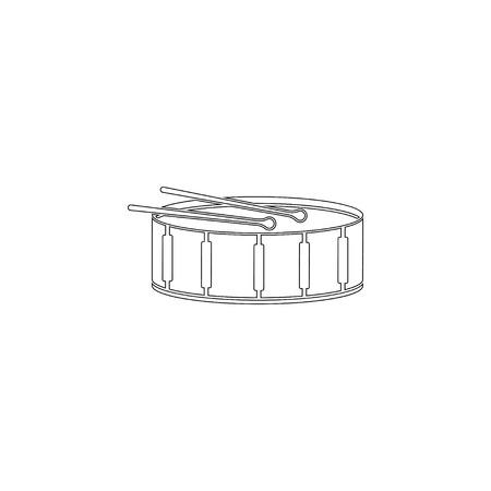 Drum. simple flat vector icon illustration. outline line symbol - editable stroke