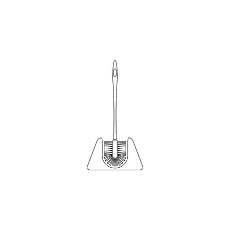 Toilet brush. simple flat vector icon illustration. outline line symbol - editable stroke