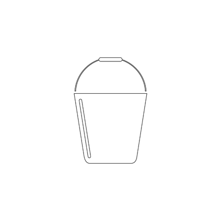 bucket. simple flat vector icon illustration. outline line symbol - editable stroke  イラスト・ベクター素材